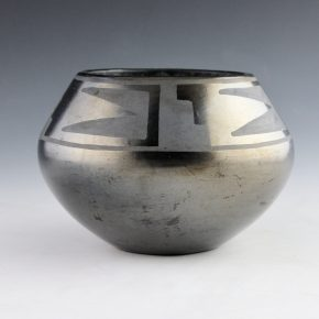 "Martinez, Maria –  Bowl with Cloud and Lightning Designs (1920's), ""Marie"""