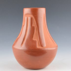 Gonzales, Rose – Red Carved Long Neck Jar