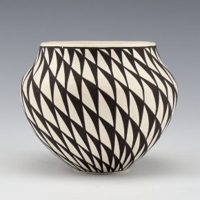 Lewis, Sharon – Jar with Swirling Feather Design
