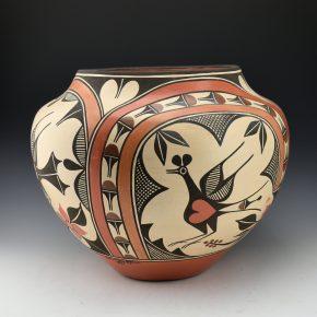 Medina, Sofia & Lois Medina – Four Color Stoarge Jar with Birds & Rainbows