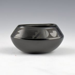 Baca, Annie –  Mini Oval Bowl with Rain Designs