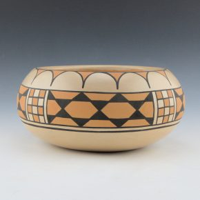 Blue Corn – Polychrome Bowl with Corn and Star Patterns