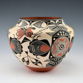 Aragon, Rachel – Jar with Parrots and Sun Design (1980's)