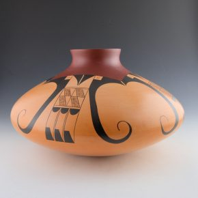 Clashin, Debbie – Large Jar with Eagle Tail Design