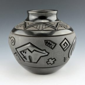 Begay, Jr., Harrison – Jar with Bear and Yei Figure (1999)