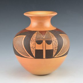 "Nampeyo, Camille ""Hisi"" – Jar with Butterfly and Bird Tail Designs (1999)"