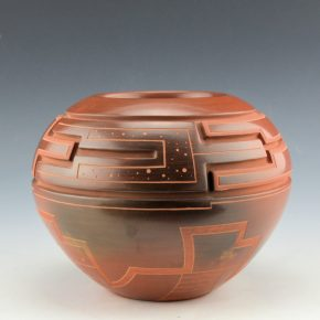 Roller, Jeff – Bowl with Carved Cloud and Feather Design (1998)
