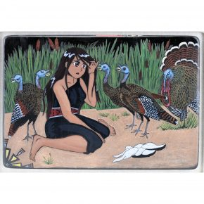 "Moquino, Jennifer Tafoya – ""Turkey Girl"" Large Tile"