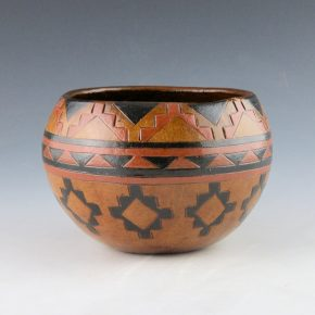 Williams, Lorraine – Bowl with Setting Sun and Star Designs
