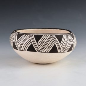 Lewis, Lucy – Bowl with Rain and Lightning Design (1980's)