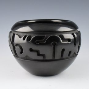 Youngblood, Nathan – Bowl with Carved Bird and Cloud Designs