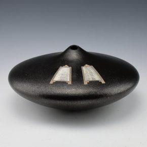 Duwyenie, Preston – Black Mica Jar with 2 Silver Insets
