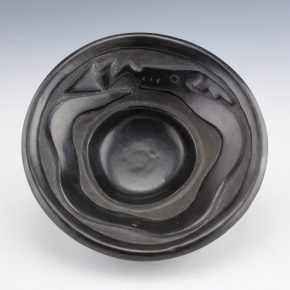 Gonzales, Rayita – Carved Open Bowl with Avanyu (1930's)