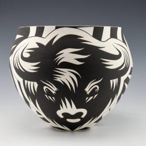 Lewis, Eric – Large Jar with Buffalo