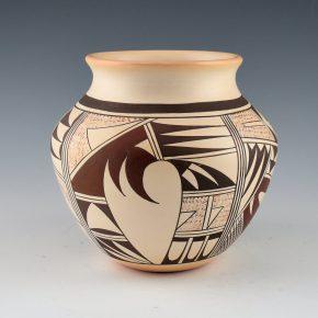 "Navasie, Joy ""Frogwoman"" – Water Jar with Hopi Birds (1980's)"