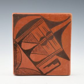 Healing, Juanita – Red Clay Tile with Rain Designs