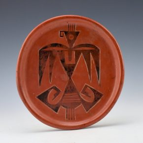Tomosie, Laura – Red Plate with Hopi Bird
