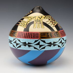 "Namingha, Les – ""Pueblo Series"" Hopi and Zuni Birds Jar"
