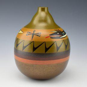 """Namingha, Les – """"Pueblo Series"""" Kolowisi and Dragonfly Jar"""