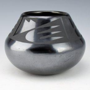 "Martinez, Maria   – Gunmetal Bowl with Cloud Designs ""Maria Popovi 569"""