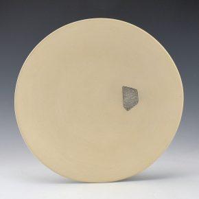 Duwyenie, Preston – White Plate with Silver Shard