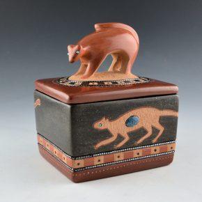 Sanchez, Russell  – Polychrome Mountain Lion Lidded Box