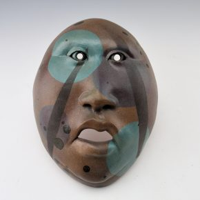 """Swentzell, Roxanne – Clay Mask with """"Bubble"""" Design"""