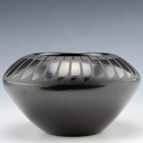 Martinez, Santana & Adam – Bowl with Feather Designs (1970's)