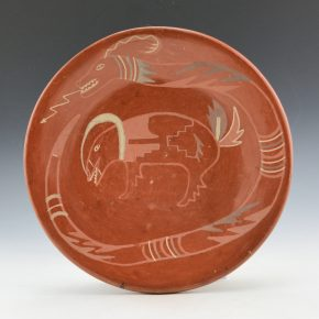 Tafoya, SaraFina – Plate with Avanyu and Wild Boar (1930's)