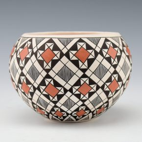 Lewis, Sharon – Bowl with Red Flower Design