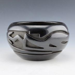 Naranjo, Teresita  – Bowl with Carved Avanyu (1970's)