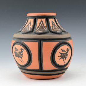 Tenorio, Thomas – Carved Jar with Bird Medallions (1997)