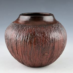 Cling, Alice – Round Jar with Corn Husk Design