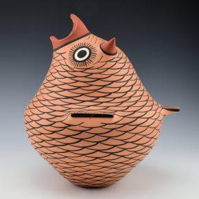 Peynetsa, Anderson – Large Red Clay Owl Figure