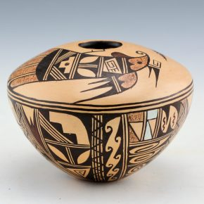 Komalestewa, Cynthia Sequi – Seedpot with Hummingbird and Corn (1990's)