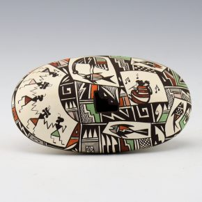 Lewis-Garcia, Diane – Oval Seedpot with Women and Fish