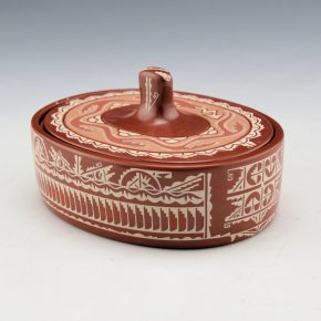 Curran, Dolores – Round Box with Avanyu Lid