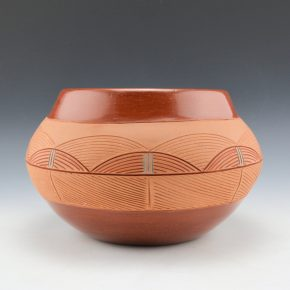 Naranjo, Dominguita Sisneros – Large Jar with Incised Rain Cloud Designs