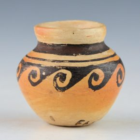 Nampeyo, Fannie – Mini Jar with Cloud Design (1970's)
