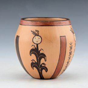"""Sahmie, Ida – """"Four Sacred Plants"""" Jar"""