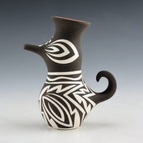 Peynetsa, Jamie – Small Black and White Clay Duck Figure