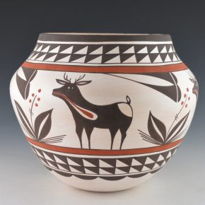 Sarracino, Myron – Jar with Heartline Deer and Plant Patterns