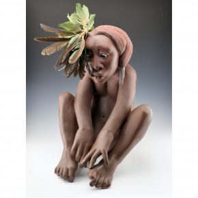 "Swentzell, Roxanne – ""Indian On the Edge"" Original Clay Figure"
