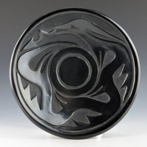 Tafoya, Severa – Plate with Carved Avanyu (1960's)
