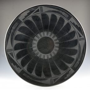 Roybal, Tonita – Large Plate with Feather Design (1920's)