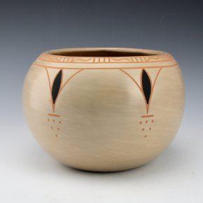 Blue Corn – Polychrome Bowl with Blue Corn Design (1980's)