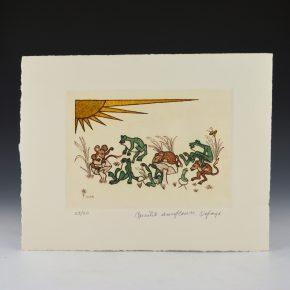 "Tafoya, Camilio -""Frogs and Mice"" Original Etching (1981)  23/60"