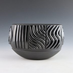 Youngblood, Christopher – Oval Bowl with Rain and Cloud Swirls