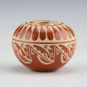 Curran, Dolores – Mini Seedpot with Feather and Avanyu Designs