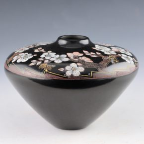 Tafoya, Jennifer (Moquino) – Wide Jar with Bees and Blossoms